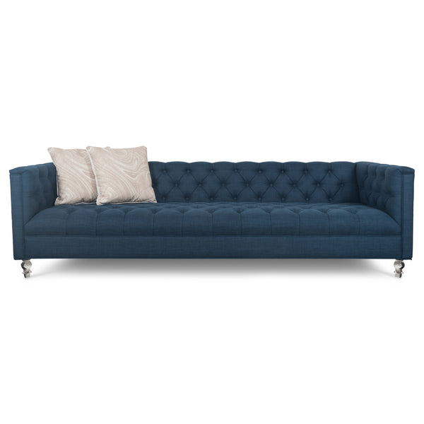 Hollywood Sofa in Navy Linen - ModShop1.com