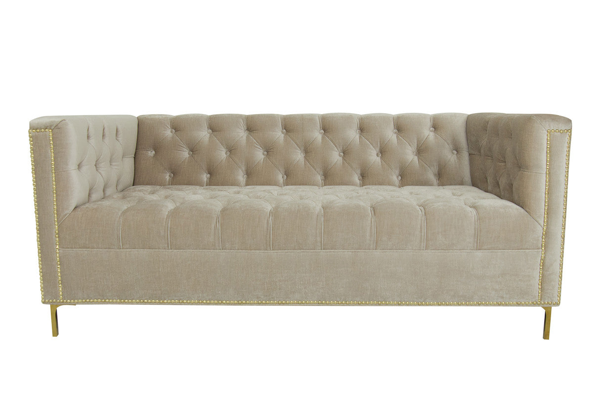 Hollywood Loveseat in Pearl Velvet - ModShop1.com
