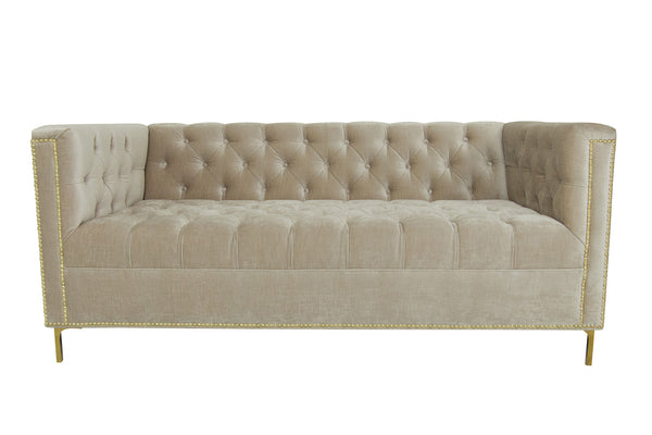 Hollywood Loveseat in Pearl Velvet
