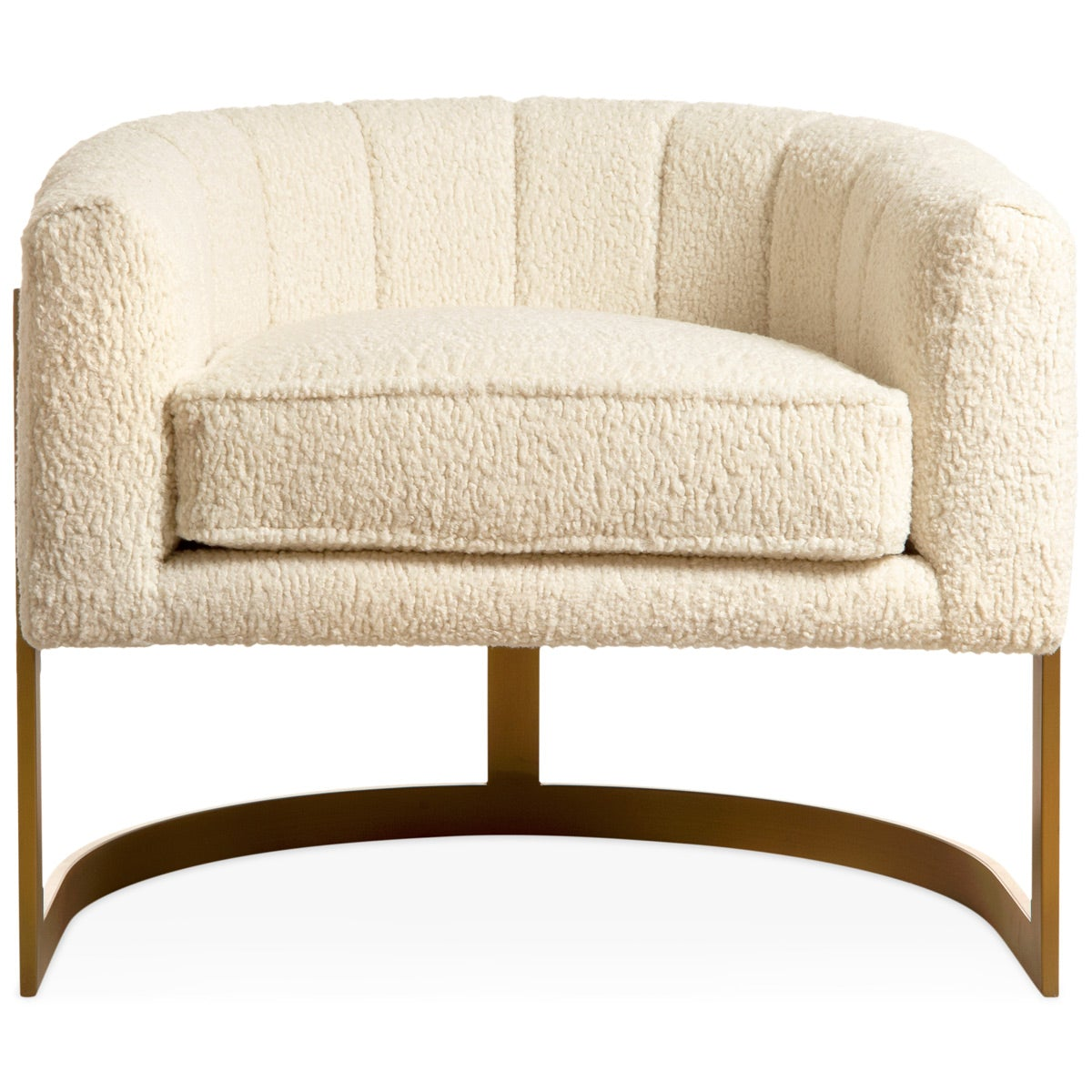 Ibiza Arm Chair in Faux Sheepskin - ModShop1.com