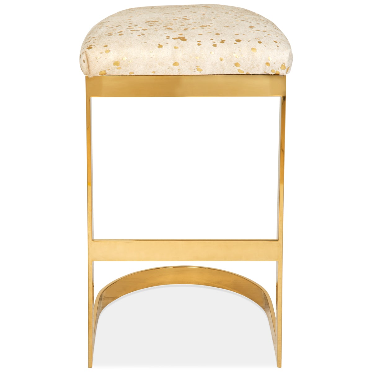 Ibiza Backless Bar and Counter Stool in Cowhide - ModShop1.com