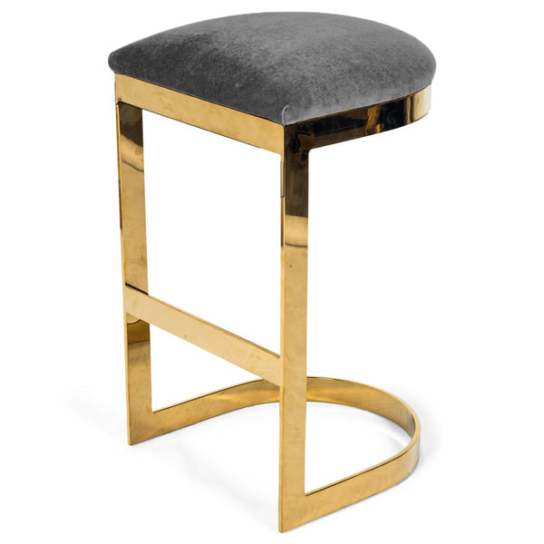 Ibiza Backless Bar and Counter Stool in Velvet