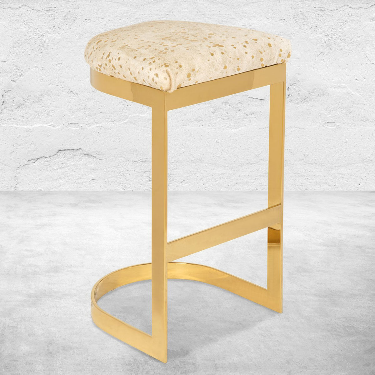 Ibiza Backless Bar and Counter Stool in Cowhide
