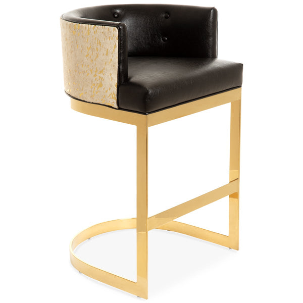 Ibiza Bar and Counter Stool in Cowhide and Faux Leather