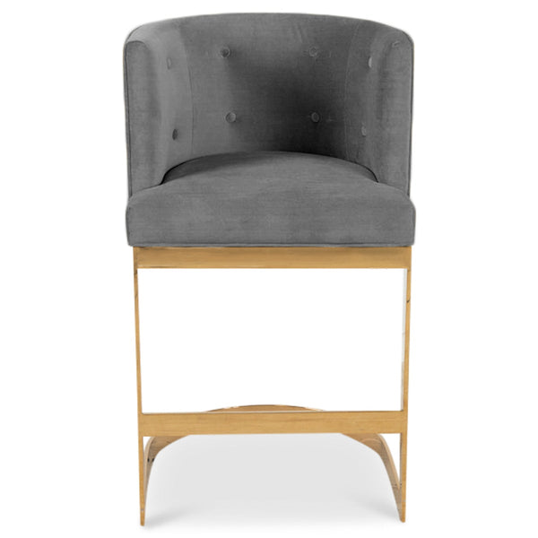 Ibiza Bar and Counter Stool in Velvet - ModShop1.com