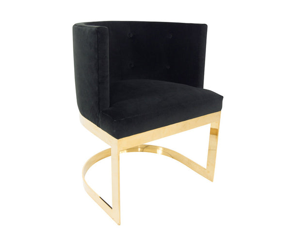 Ibiza Dining Chair in Black Velvet