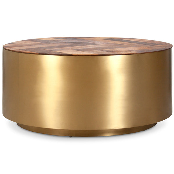 Ibiza Brushed Brass Coffee Table - ModShop1.com