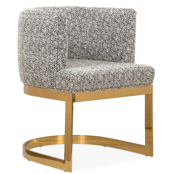 Ibiza Dining Chair in Textured Fabric - ModShop1.com