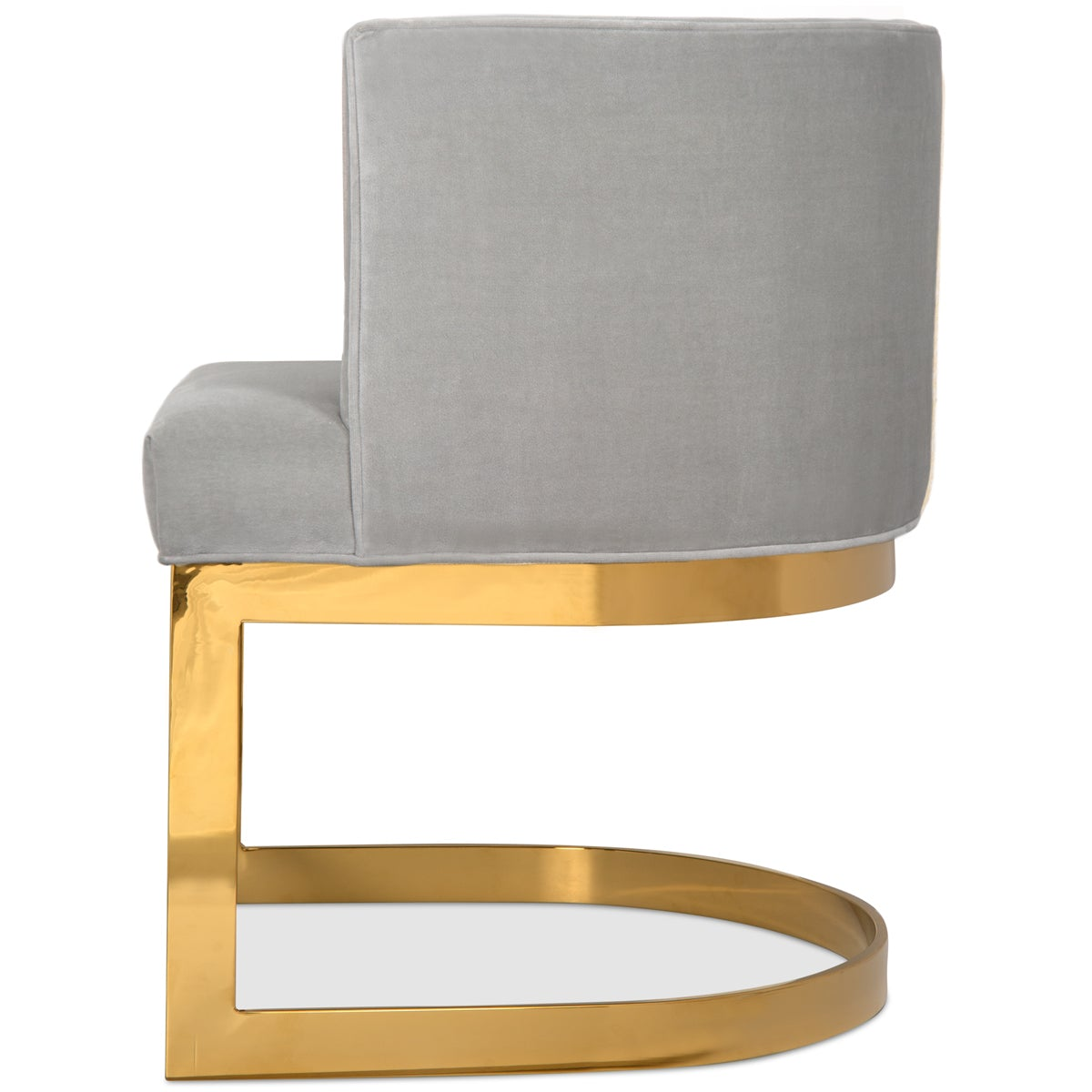 Curved Velvet And Brass Ibiza Dining Chair Modshop