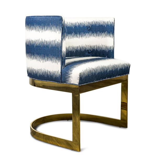 Ibiza Dining Chair in Stripe Ikat