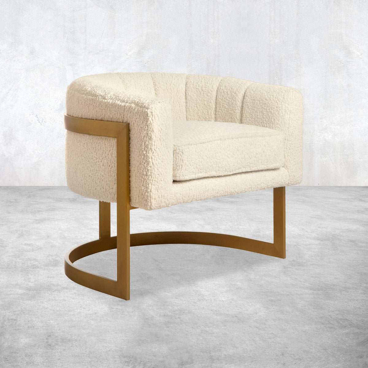 Ibiza Arm Chair in Faux Sheepskin