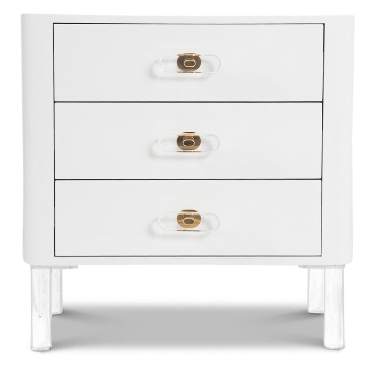 Ibiza 3 Drawer Side Table - ModShop1.com