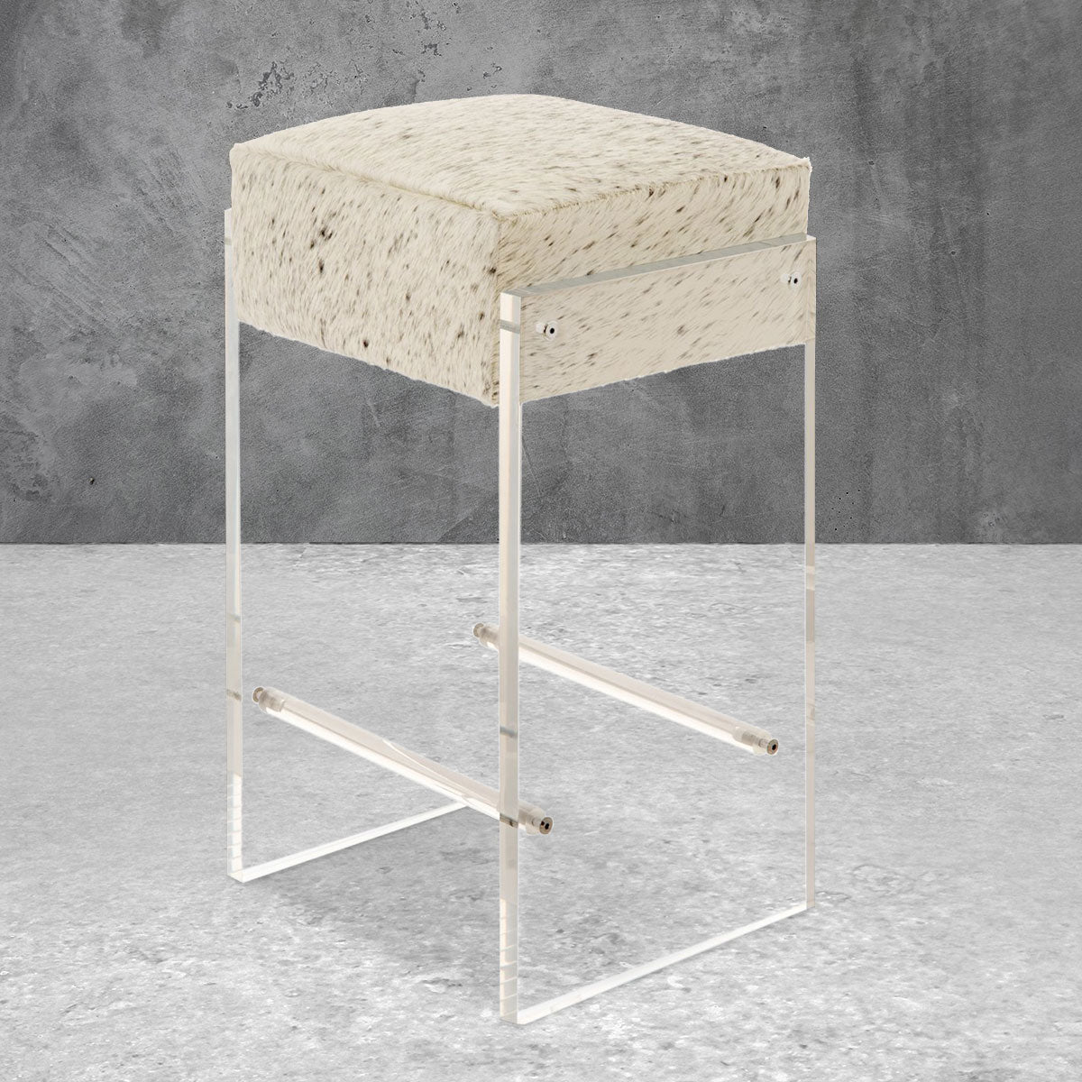 Iceland Bar Stool in Cowhide
