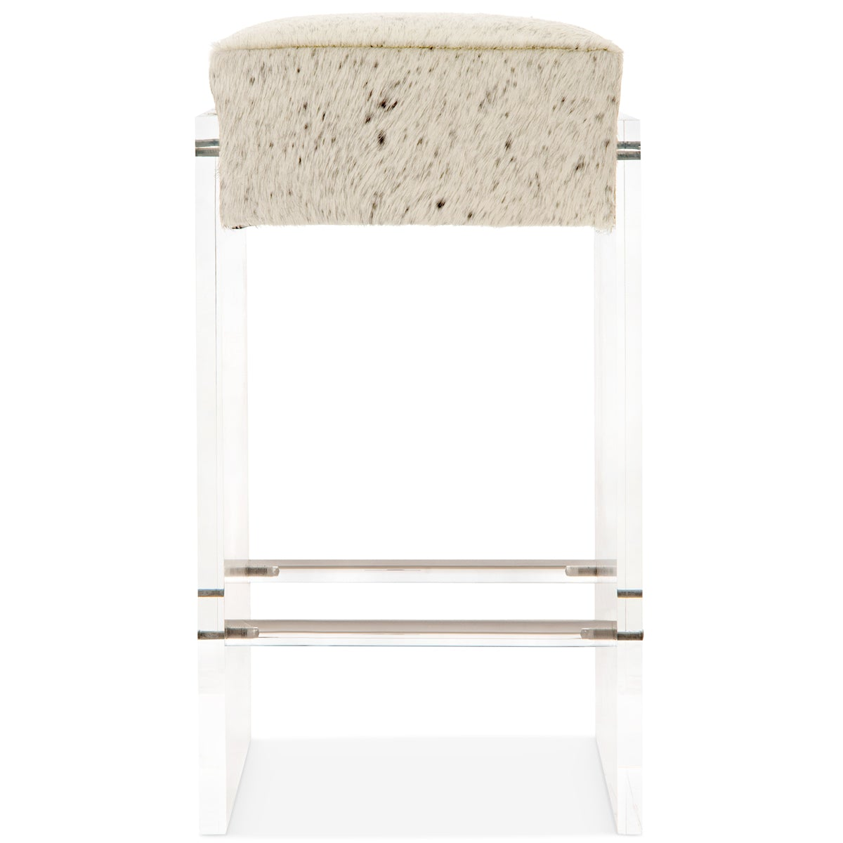 Iceland Barstool Cowhide And Plinth Lucite Legs Modshop