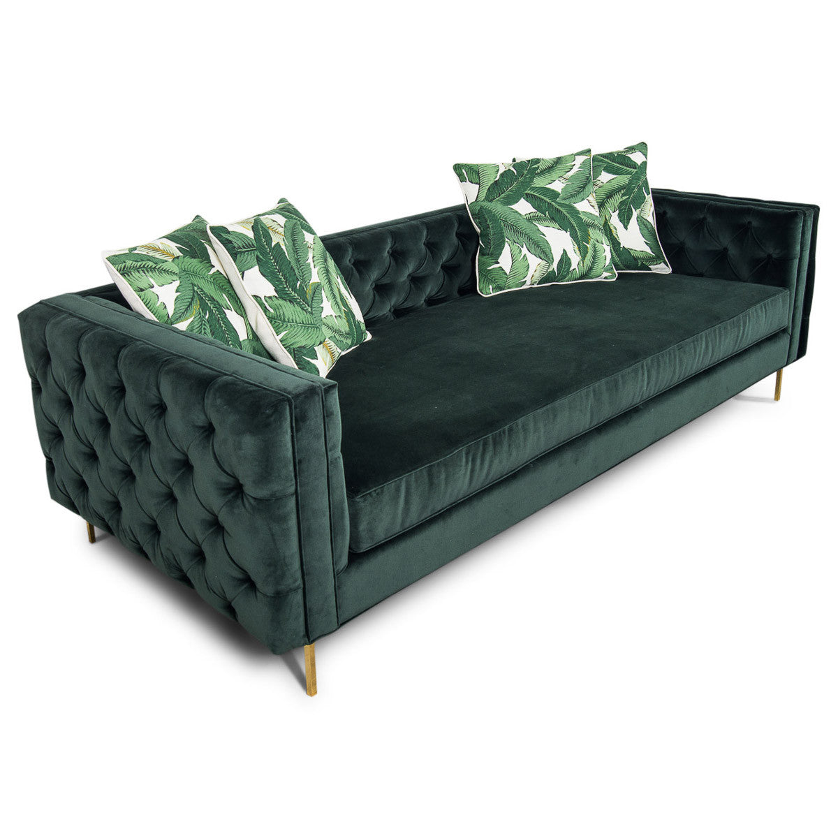 Inside Out New Deep Sofa in Hunter Velvet - ModShop1.com