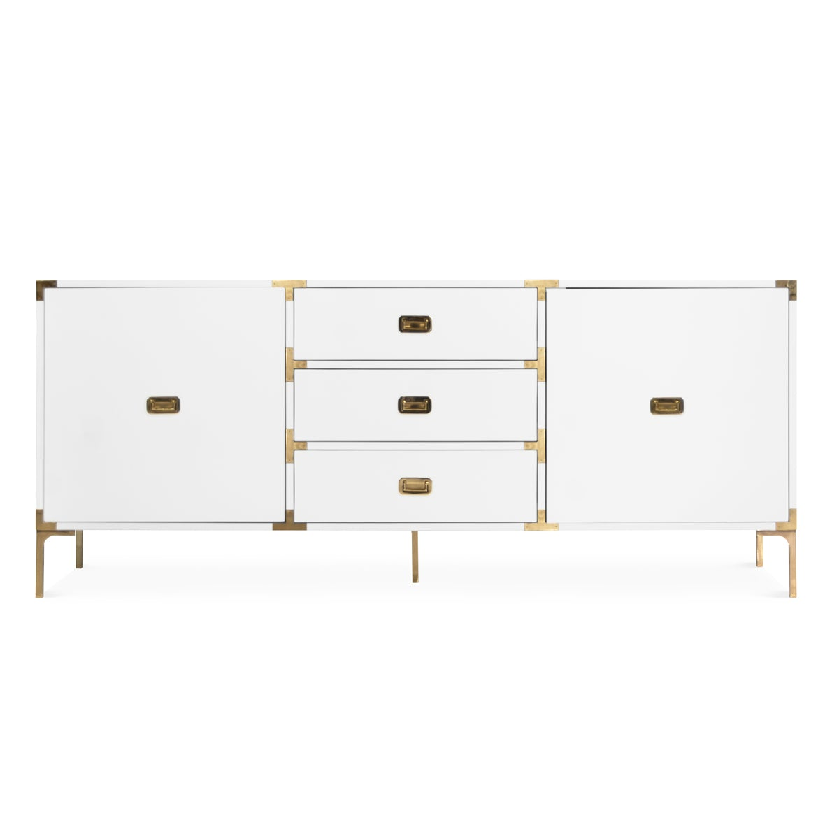 Jet Setter Credenza in White or Black