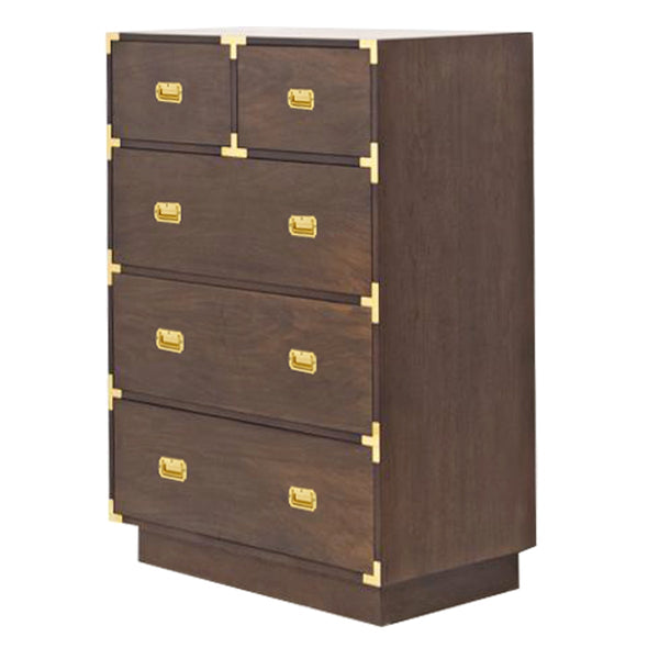 Jet Setter Tall Boy Dresser in Walnut - ModShop1.com