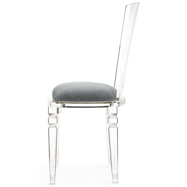 Armless Juliette Lucite Chair in Mohair - ModShop1.com