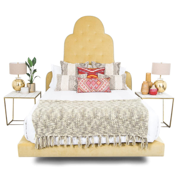 Juliette Bed in Hollandaise Velvet