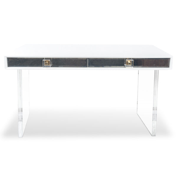 Juliette Desk with Plinth Lucite Legs