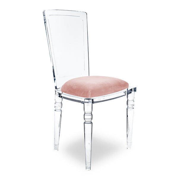 Armless Juliette Lucite Chair
