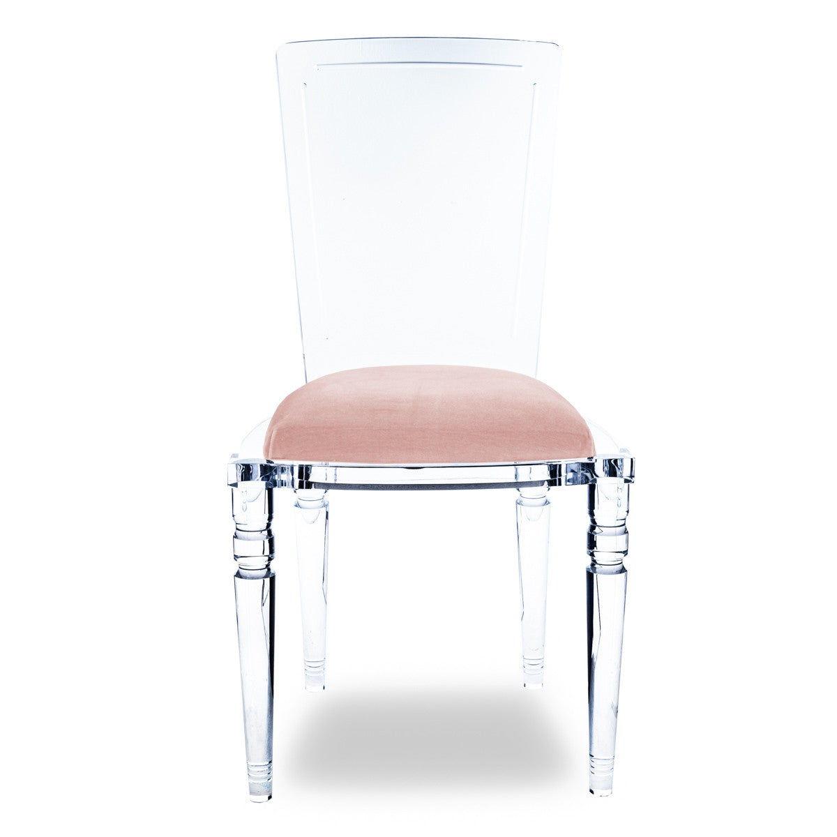 Image of: Juliette Armless Lucite Chair With Cushion Modshop