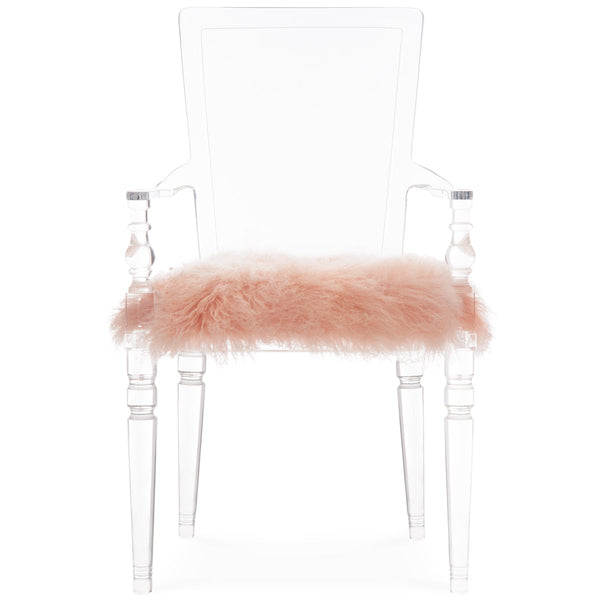Juliette Lucite Chair in Mongolian Fur - ModShop1.com