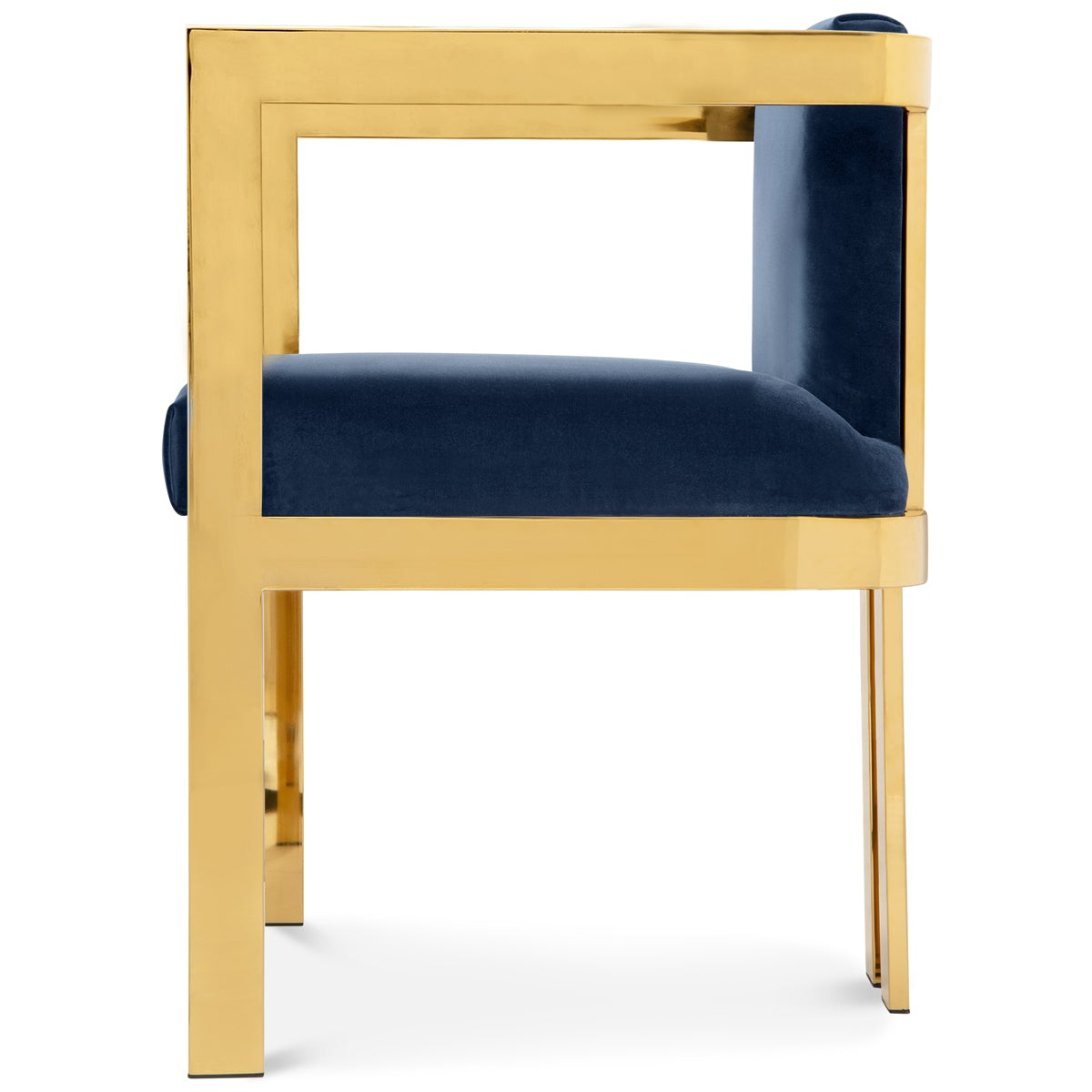 Kingpin Dining Chair in Velvet - ModShop1.com