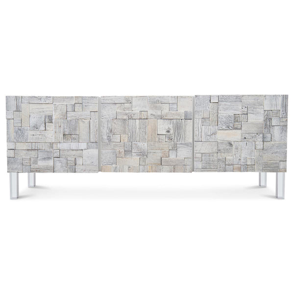 Kubist Three Door Credenza in Recycled Wood
