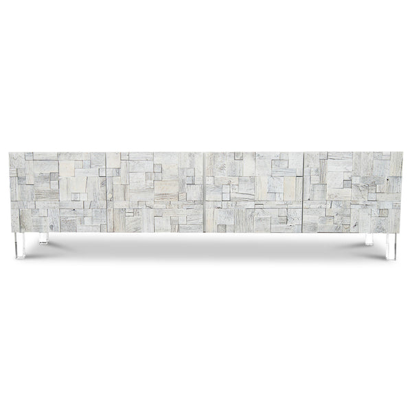 Kubist Four Door Credenza in Recycled Wood