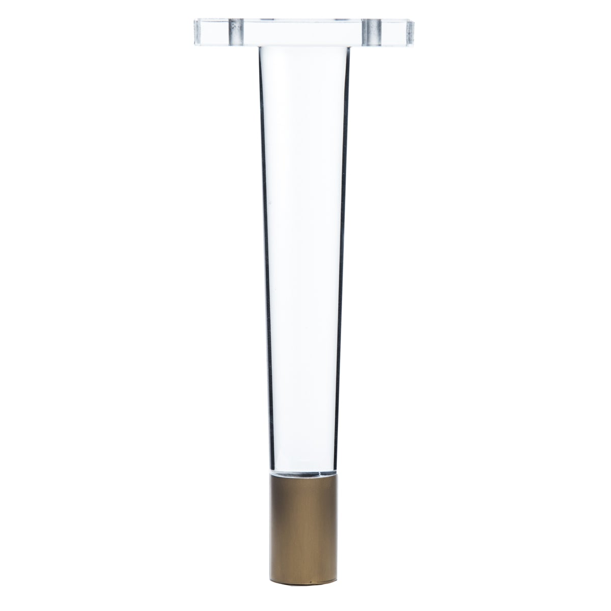 "8"" Lucite and Metal Finished Cone Leg  (Set of 4) - ModShop1.com"