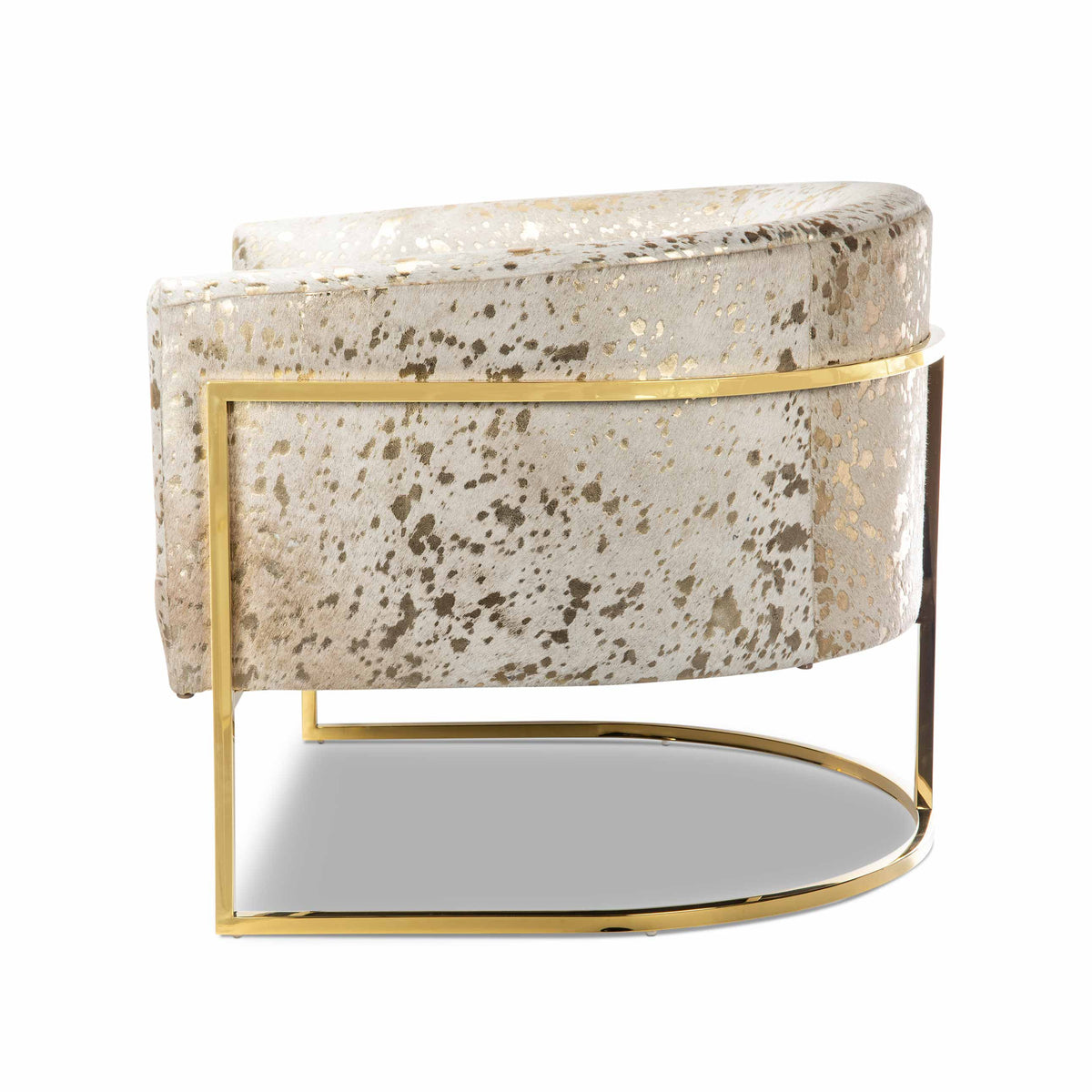 Lisbon Chair in Gold Speckled Cowhide