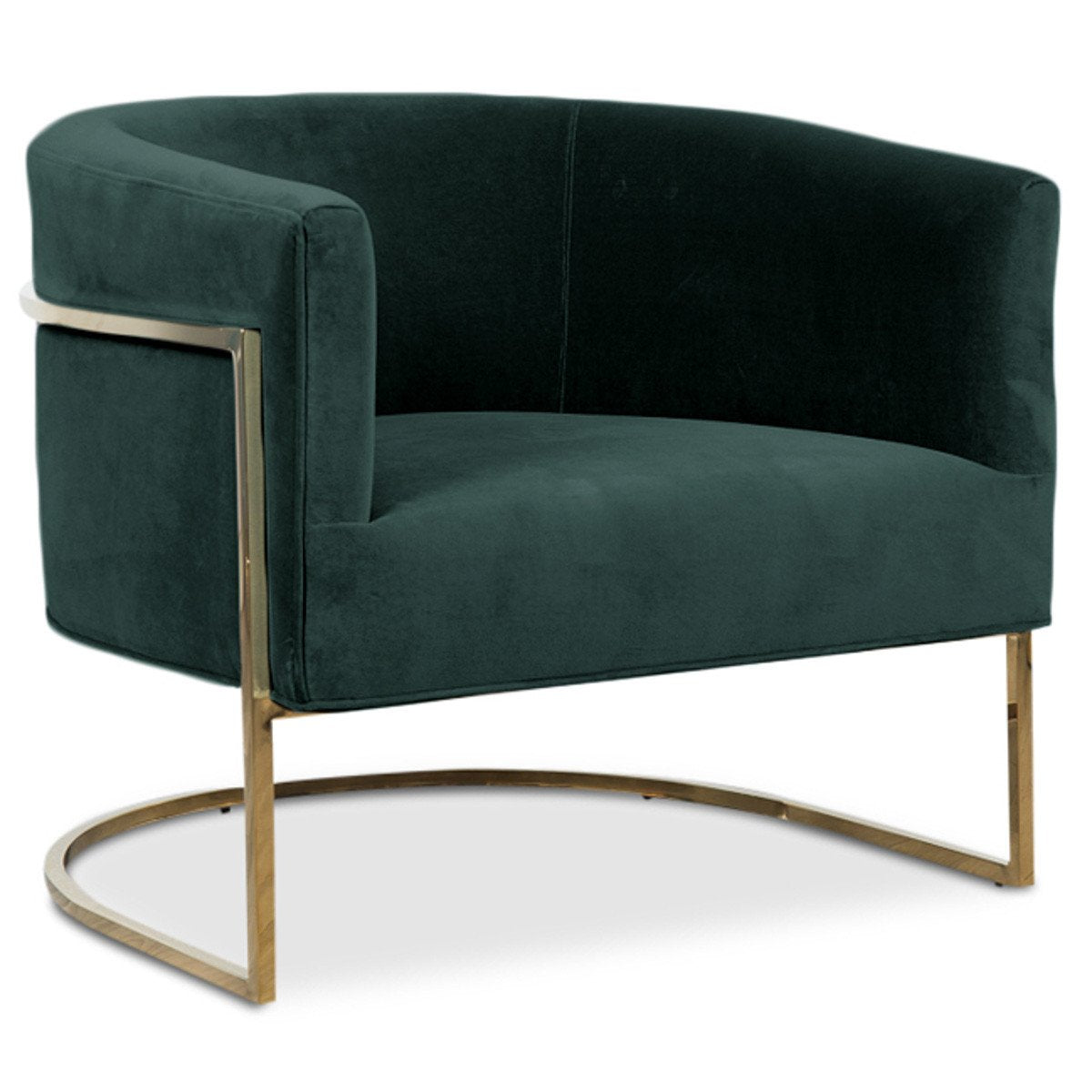 Furniture Factory Outlet Dallas: Lisbon Chair In Shiny Brass And Hunter Green Velvet