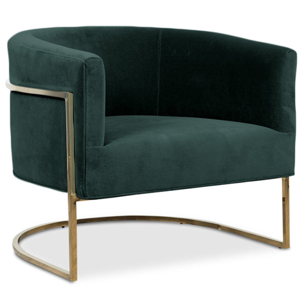 Superieur Lisbon Chair In Shiny Brass And Hunter Green Velvet