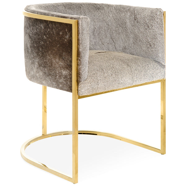 Lisbon Dining Chair in Cowhide - ModShop1.com