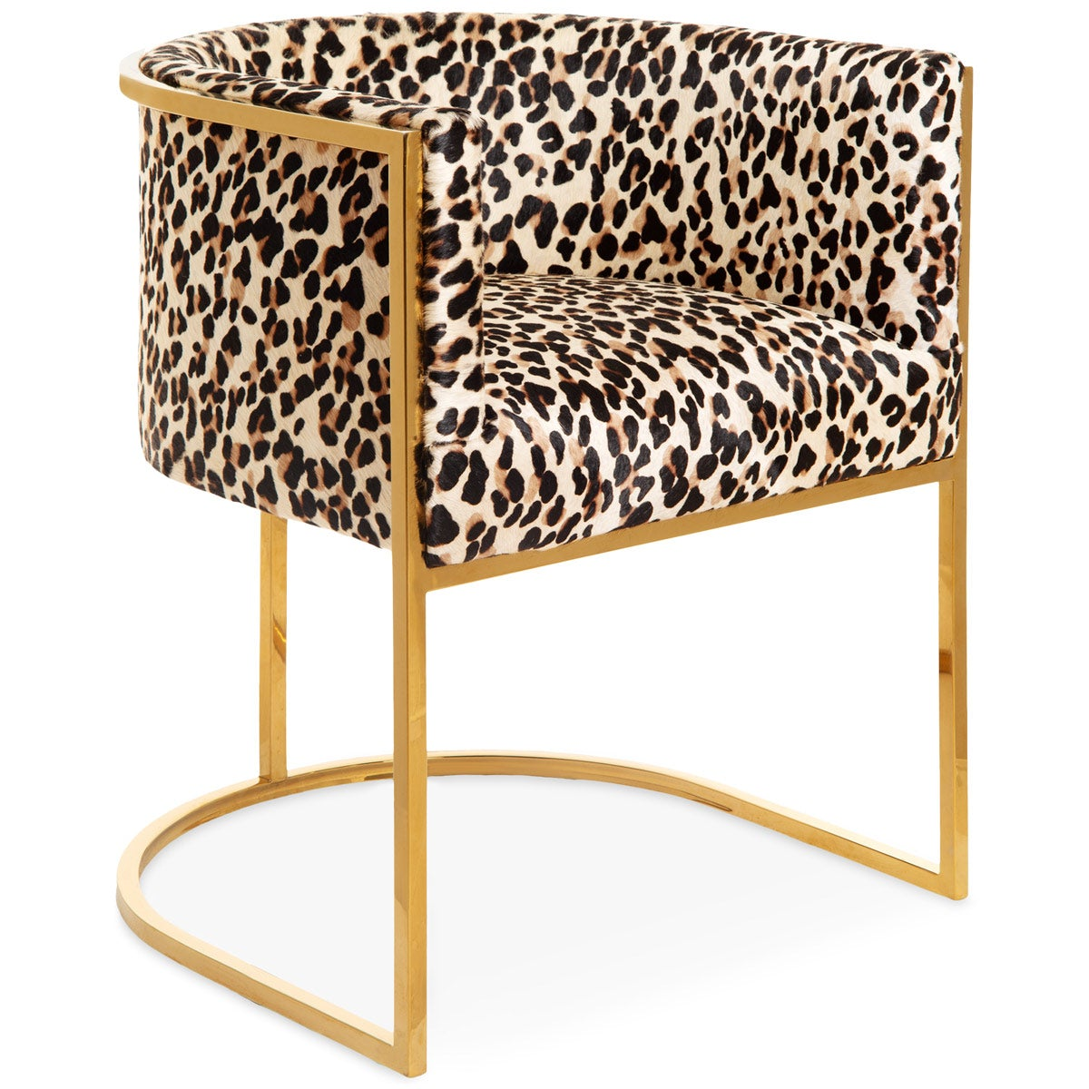 Wondrous Lisbon Dining Chair Modern Leopard Print On Cowhide Modshop Squirreltailoven Fun Painted Chair Ideas Images Squirreltailovenorg