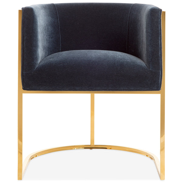 Lisbon Dining Chair in Mohair - ModShop1.com