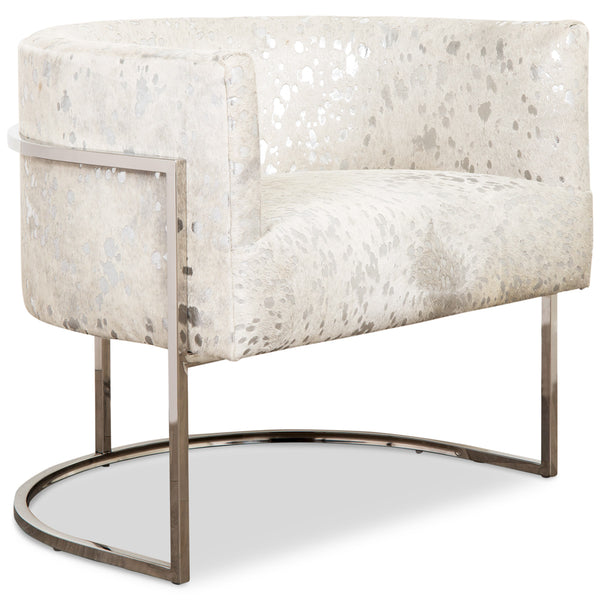 Lisbon Chair in Silver Speckled Cowhide - ModShop1.com
