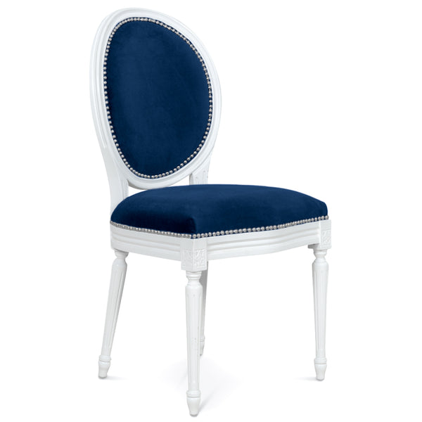 louis dining chair in white