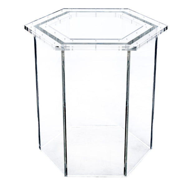 Lucite Hexagon Base