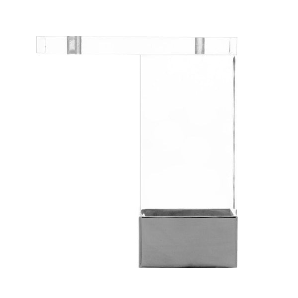 "4"" Straight Lucite and Metal Leg (Set of 4) - ModShop1.com"