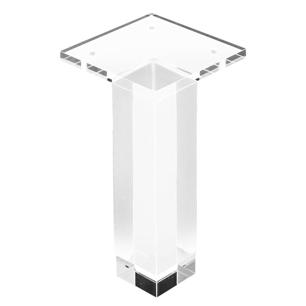 "7"" Straight Lucite Leg (Set of 4)"