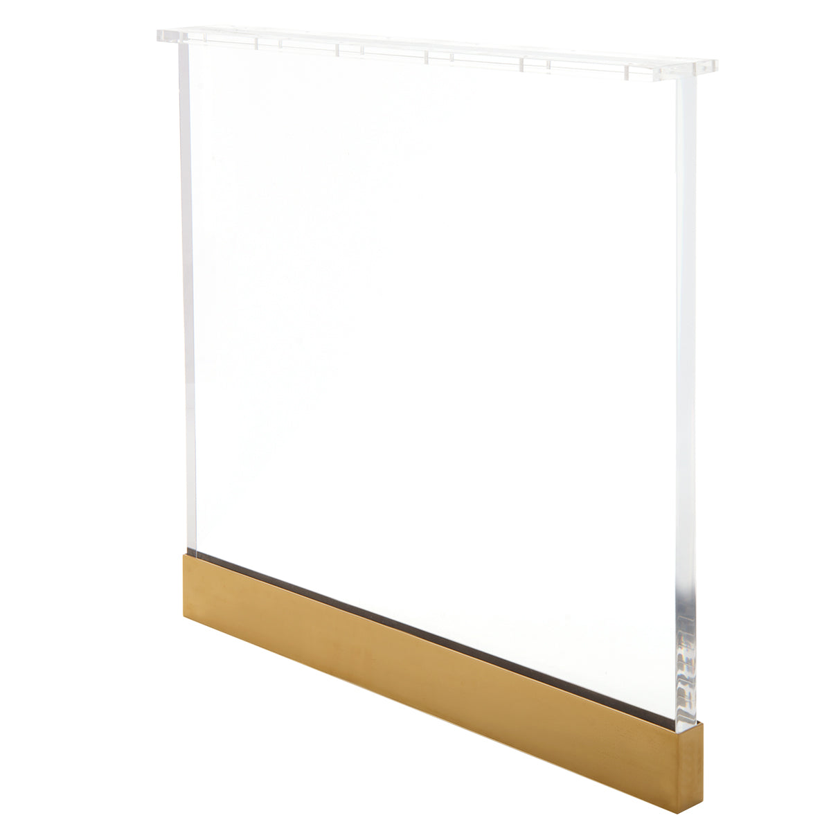 Lucite Plinth Dining Table Legs with Shiny Brass Caps - ModShop1.com