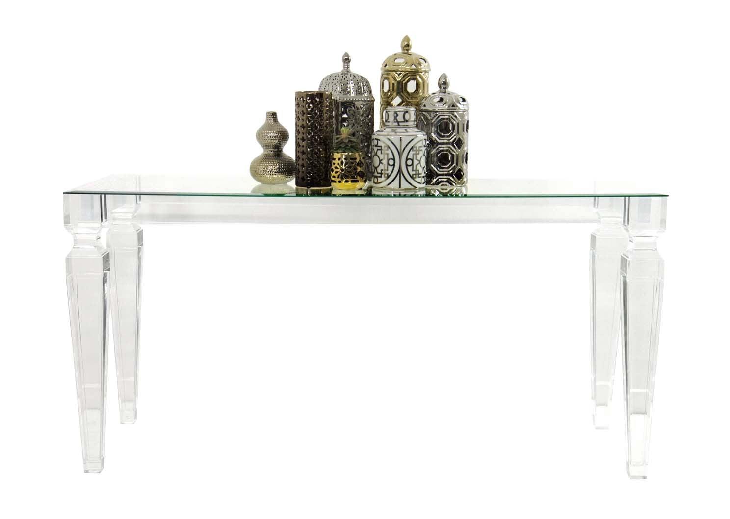 lucite console table. Lucite Console Table B