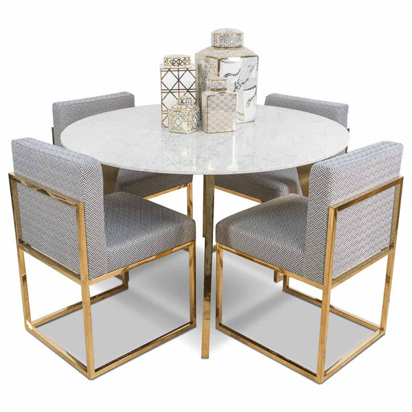Modern Dining Tables Online ModShop - Marble top circle dining table