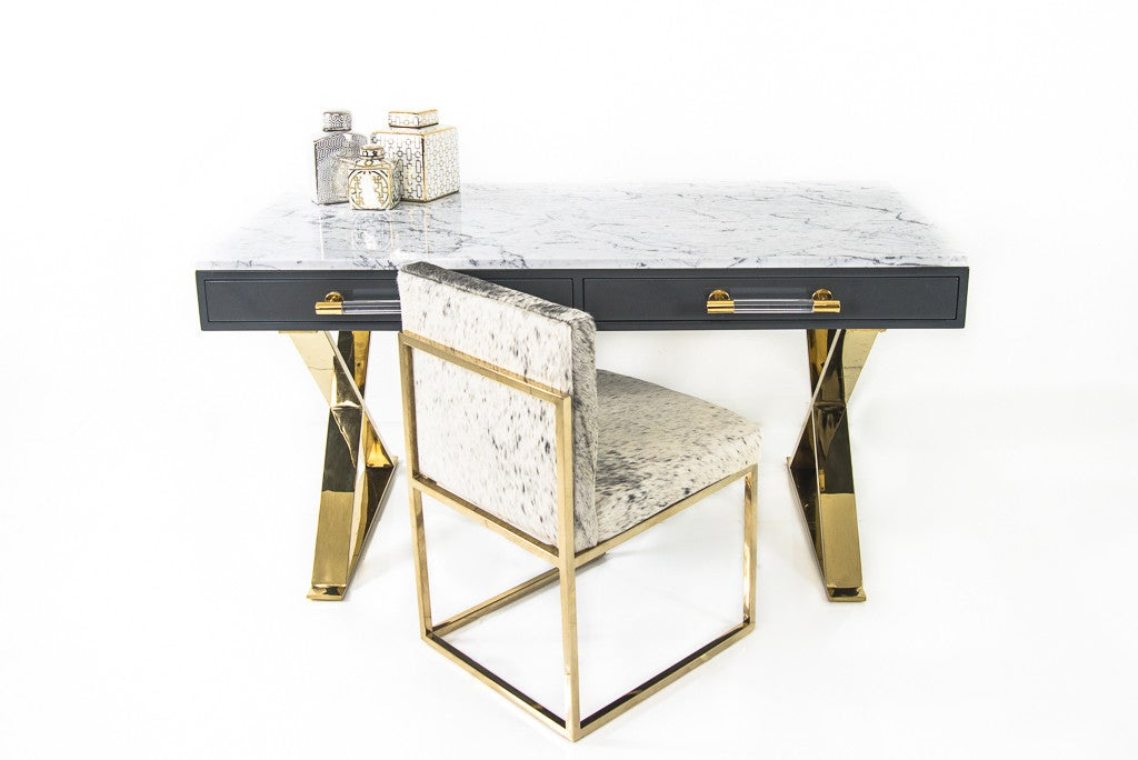 Cape Town Desk with Marble Top - ModShop1.com