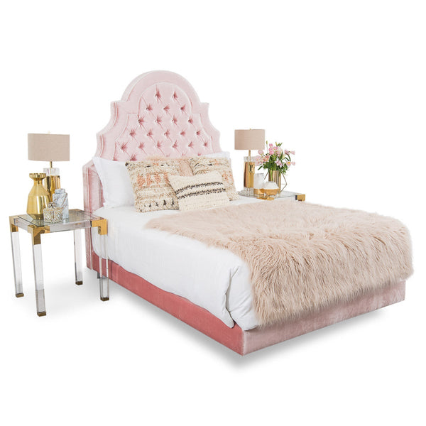 Marrakesh Bed in Blush Velvet
