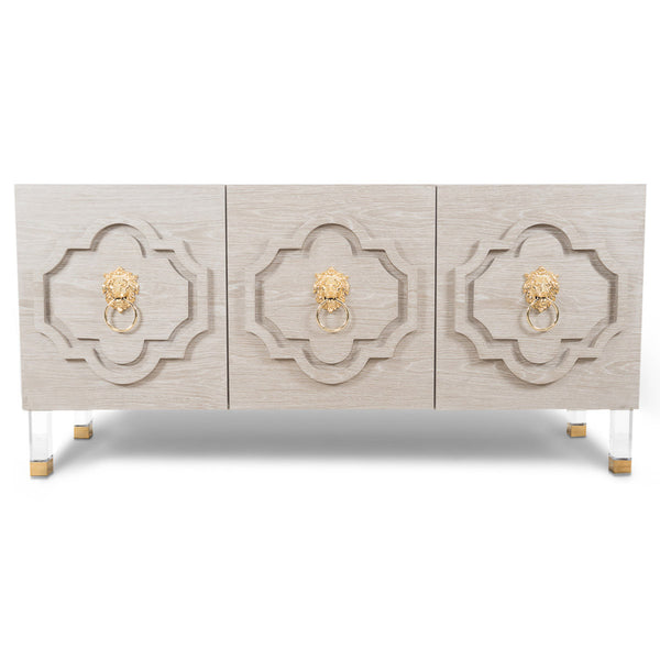 Marrakesh 3 Door Credenza in Oak
