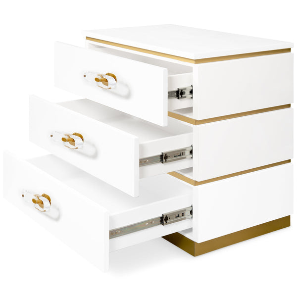 Marseille 3 Drawer Side Table