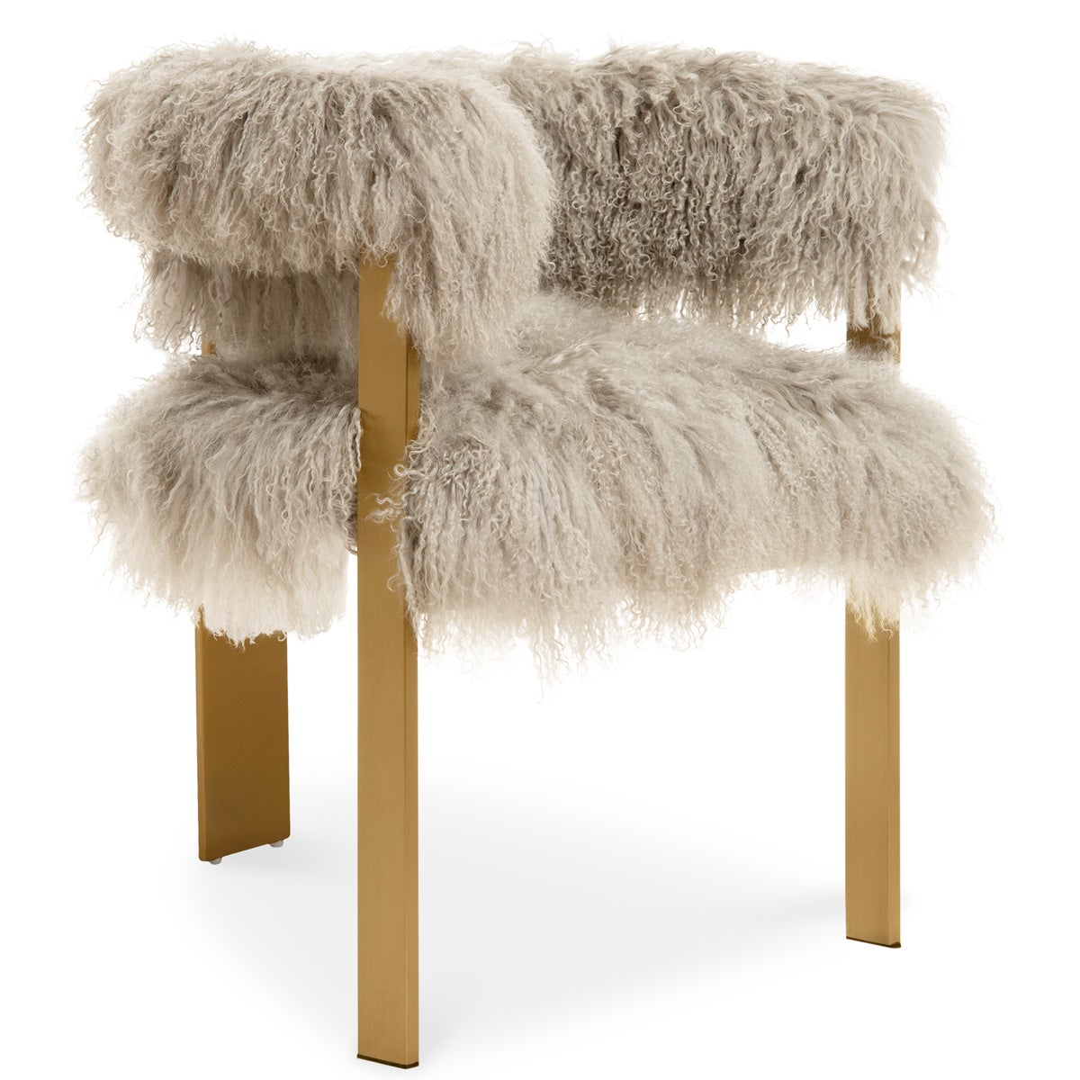 Marseille Dining Chair in Mongolian Fur - ModShop1.com